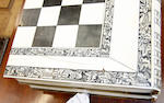 A Vizagapatam ivory and ebony folding games board