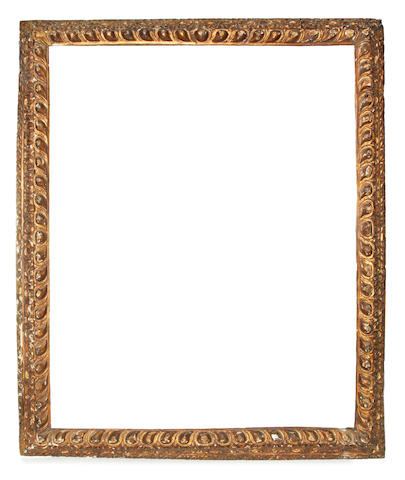 A Venetian 16th Century carved and gilded frame