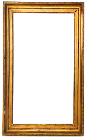 A French Louis XVI carved and gilded frame