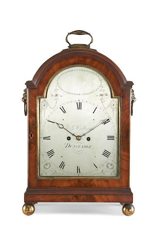 A Regency mahogany fusee bracket clockby S. G. Collings, Dunstable