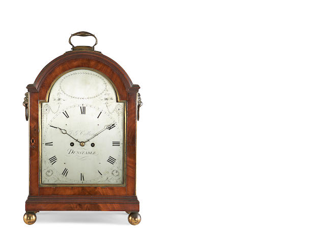 A Regency mahogany fusee bracket clock by S. G. Collings, Dunstable