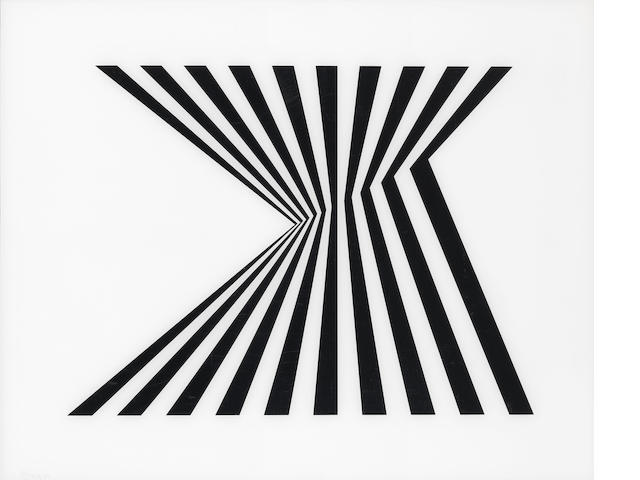 Bridget Riley (British, born 1931) Untitled (Fragment 1) (Schubert 5A) Screenprint on plexiglass, 1965, signed and dated, a proof aside from the edition of 75, printed by Kelpra Studio, London, published by Robert Fraser Gallery, London, the full sheet, 674 x 839mm (26 1/2 x 33in)(SH)(unframed)
