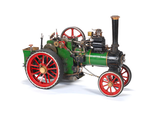 A 3/4in scale model of a single cylinder traction steam engine Built by J.Bamforth, Leeds, 1980