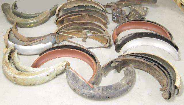 Assorted mudguards,