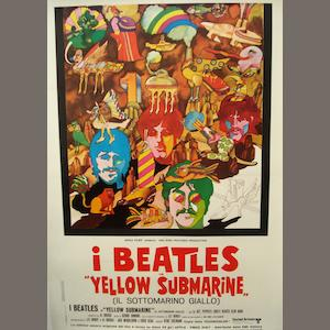 A 'Yellow Submarine' film poster,