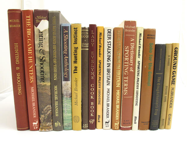 FROM THE LIBRARY OF MICHAEL BRANDER BRANDER (MICHAEL) A small collection of sporting books, some signed by the author