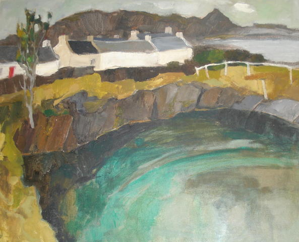 Sheila Mcnab MacMillan (British, born 1928) Easdale, Quarry and Houses