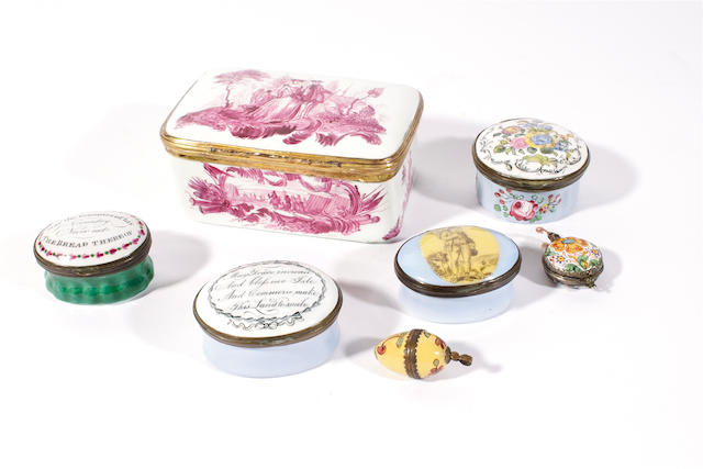 A group of enamels, circa 1770-1800