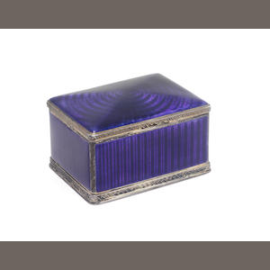 An enamelled dressing table box with pseudo Russian marks