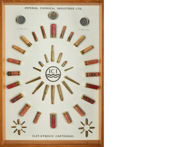 An ICI cartridge-display board of Eley-Kynoch Cartridges
