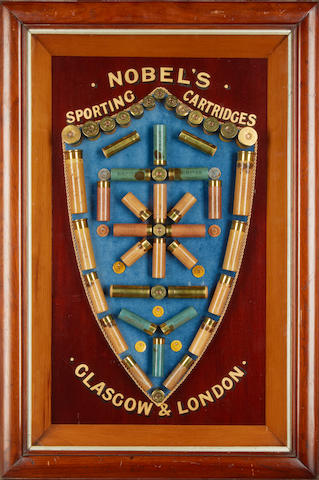 A fine 'Nobel's Sporting Cartridges' cartridge-display board