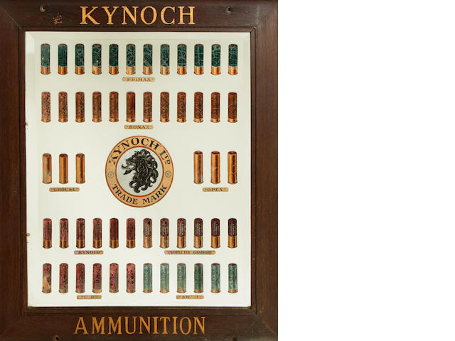 A Kynoch cartridge-display mirror