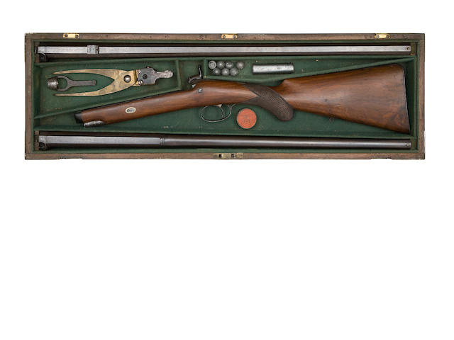 A Cased 16-Bore Percussion Sporting Rifle