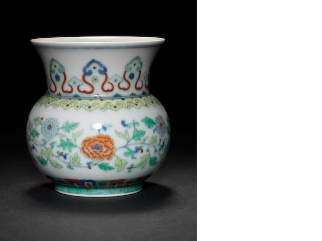 A doucai zhadou Qianlong six-character mark