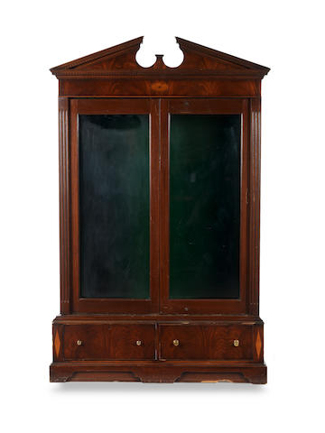 A large glazed 21st Century gun cabinet Together with a set of keys
