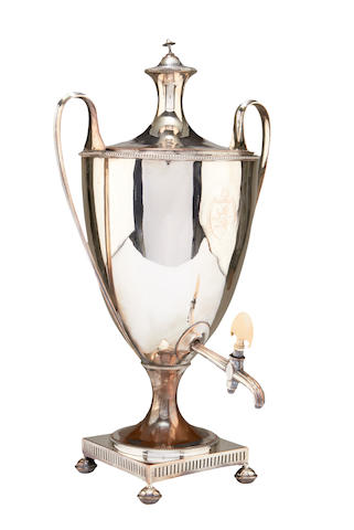 A Regency silver plated samovar