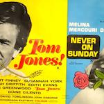 A collection of film posters,