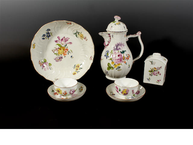 A group of Meissen teawares, circa 1730-50