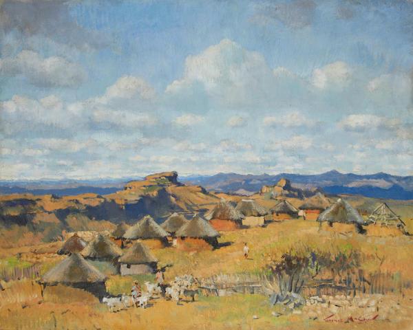 Terence John McCaw (South African, 1913-1978) Mamathes, Basutoland