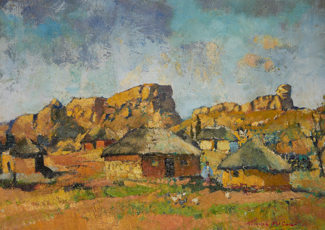 Terence John McCaw (South African, 1913-1978) At Peka, Basutoland