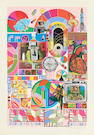 Sir Eduardo Paolozzi (British, 1924-2005) B.A.S.H (Pale Pink & Orange) Two screenprints in colours with collage, each signed and dated in pencil, one numbered 2142/3000, one a printer's proof numbered 8, published by Dorothea Leonhart, Munich, with their blindstamp, each with full margins, 740 x 485mm (29 1/8 x 19 1/8in)(I)(unframed)(2)