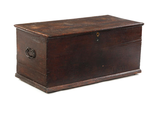 An 18th century oak chest
