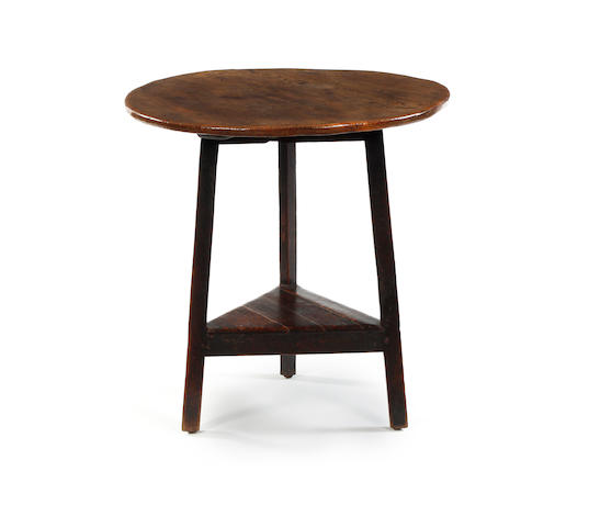 A George III elm and oak cricket table