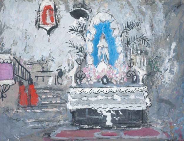 Anne Redpath, OBE RSA ARA LLD ARWS ROI RBA (British, 1895-1965) Altar 34 x 44.2 cm. (13 1/4 x 17 1/2 in.)