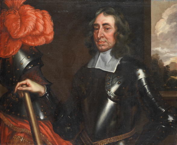 Circle of Robert Walker (? circa 1607-circa 1658 London) Portrait of a gentleman, half-length, in armour unframed