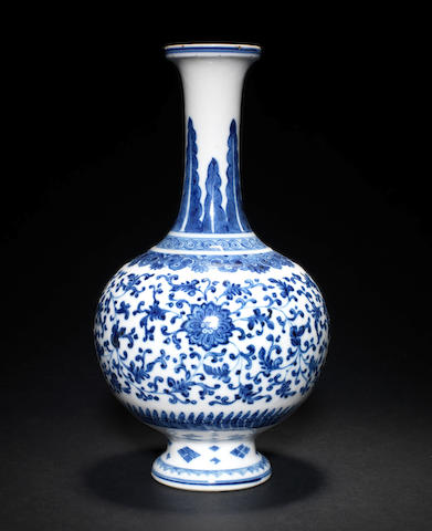 A Ming style blue and white vase- to be advised if suitable for KB sale