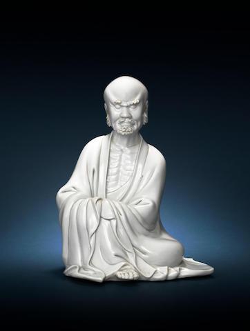 Blanc de chine figure of Budai