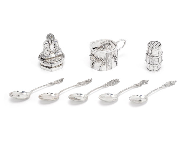 Four Chinese silver condiments  (16)
