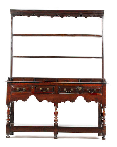 An early 18th century oak high dresser South Wales