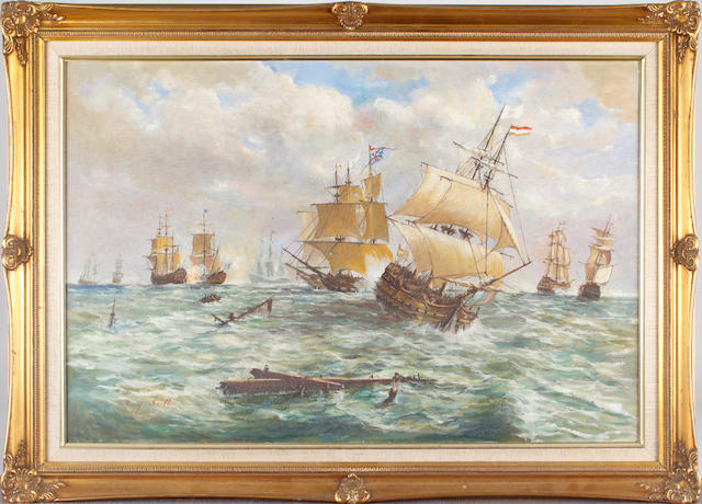 Ray Smith (British, 1949) Marine battle scene
