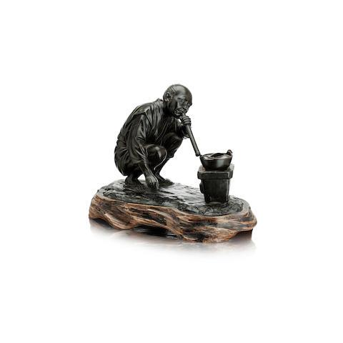 A bronze figure Meiji