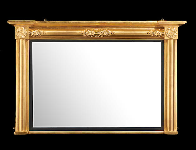 A 19th century giltwood landscape mirror in the William IV style