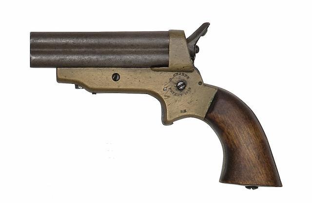 A .30 Sharps Patent Four-Shot Rim-Fire Deringer