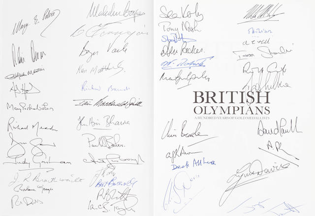 British Olympians Buchanan (Ian). British Olympians: A Hundred Years of Gold Medallists SIGNED BY 47 BRITISH OLYMPIANS