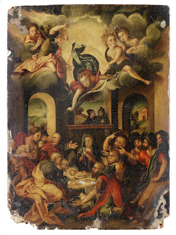 Circle of Lelio Orsi da Novellara (Novellara 1511-1587) The Adoration of the Shepherds unframed