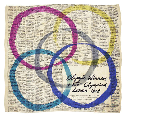 Silk Scarf - Ena Pitfield A silk scarf designed and made by Ena Pitfield RA (1917-2012)