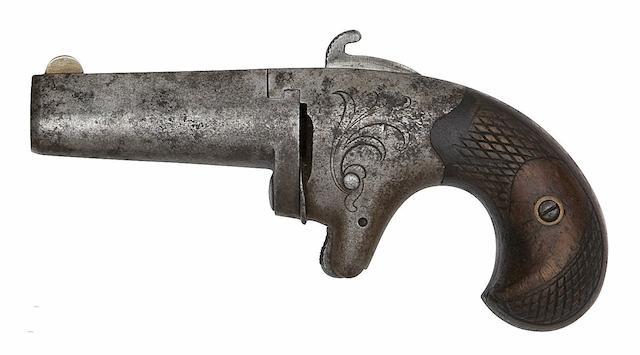 A .41 Colt Second Model Rim-Fire Deringer, And A Liège .41 Deringer Of Colt Third Model Type