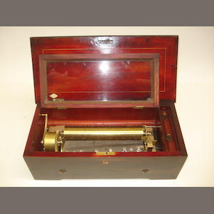 A musical box playing four airs, circa 1865,