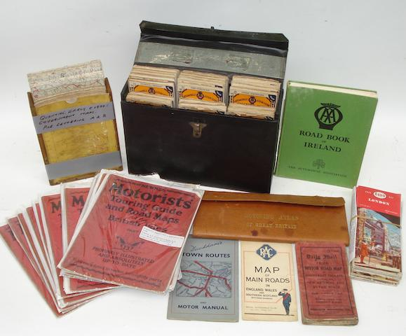 An AA cased set of Bartholomew's road maps, 1920s,