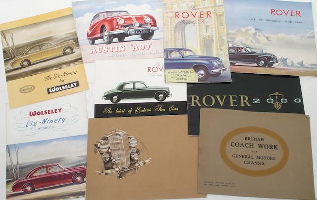 Sales brochures for British marques,