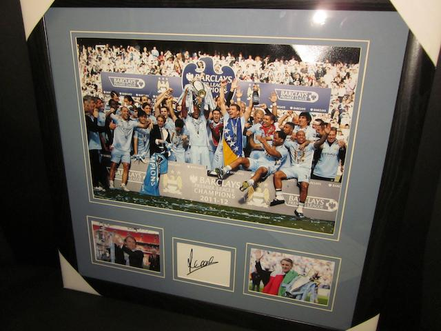 Manchester City hand signed items