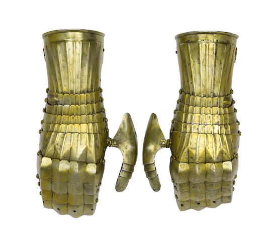 A Very Rare Pair Of 'Maximilian' Mitten Gauntlets