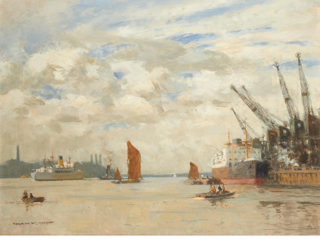 Norman Wilkinson (British, 1878-1971) Galleon's Reach