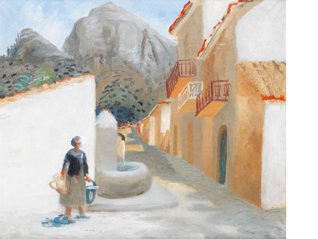 Winifred Nicholson (British, 1893-1981) Water Pots 54 x 65 cm. (21 1/4 x 25 1/2 in.)