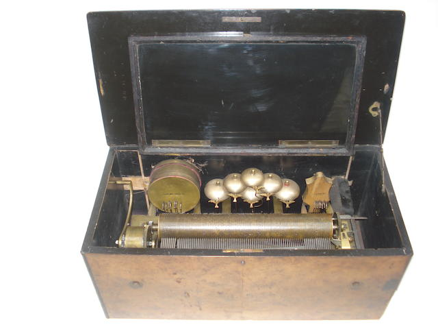 A part-orchestral musical box, playing eight airs, circa 1890,