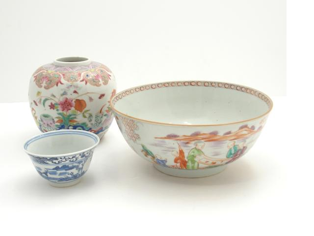 A famille rose bowl 18th century